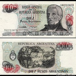 ARGENTINE - PICK 313 a 2 - 10 PESOS ARGENTINOS - 1984