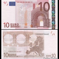 10 EUROS - SIGNATURE TRICHET - PICK 9 T ...