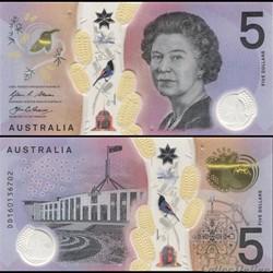 AUSTRALIE - PICK 62 a - 5 DOLLARS - 2016