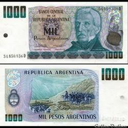 ARGENTINE - PICK 317 b - 1000 PESOS ARGE...
