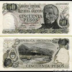 ARGENTINE - PICK 296 a 2 - 50 PESOS - 19...