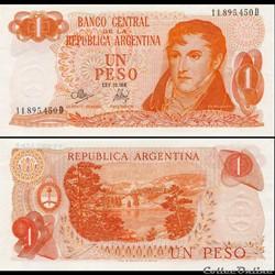 ARGENTINE - PICK 287 a 4 - 1 PESO - 1972