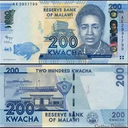 MALAWI - PICK 60 a - 200 KWACHA - 2012