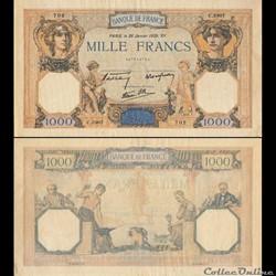 FRANCE - 1000 FRANCS  - CÉRÈS ET MERCURE