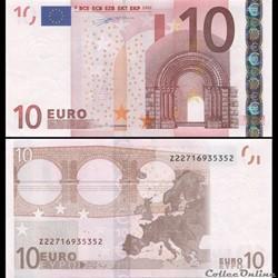 10 EUROS - SIGNATURE DUISENBERG - PICK 2...