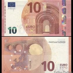 10 EUROS - SIGNATURE DRAGHI - PICK 21 P ...