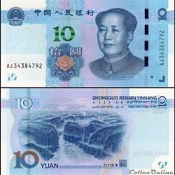 CHINE - PICK 913 a - 10 YUAN 2019