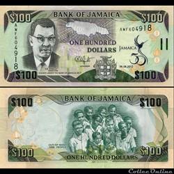 JAMAÏQUE - PICK 90 - 100 DOLLARS - 2012