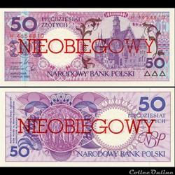 POLOGNE - PICK 169 A - 50 ZLOTYCH - 1990