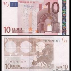 10 EUROS - SIGNATURE DRAGHI - PICK 15 T ...