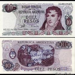 ARGENTINE - PICK 300 - 10 PESOS  - 1976