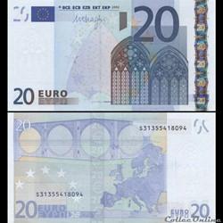 20 EUROS - SIGNATURE DRAGHI - PICK 16 S ...