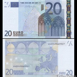 20 EUROS - SIGNATURE DRAGHI - PICK 16 U - FRANCE