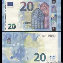 20 EUROS - SIGNATURE DRAGHI - PICK 22 N ...