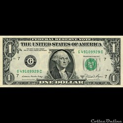 G- 1$ Federal Reserve Notes - Small Size 1981A Series