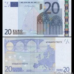 20 EUROS - SIGNATURE DRAGHI - PICK 16 H ...