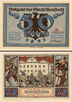 Arnstad - 50 Pfennig