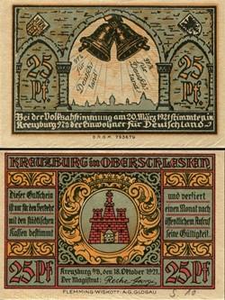 Kreuzburg in Oberschlesien - 25 Pfennig