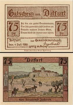 Ditfurt 75 Pfennig