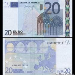 20 EUROS - SIGNATURE DRAGHI - PICK 16 P ...