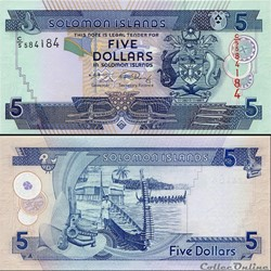 ILES SALOMON - PICK 26 a 2 - 5 DOLLARS -...