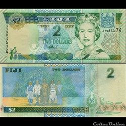 FIDJI - PICK 104 a - 2 DOLLARS - 2002