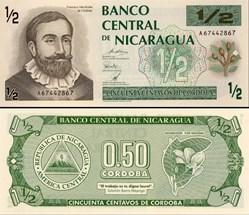 NICARAGUA - PICK 171  - 50 CENTAVOS - 19...