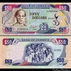 JAMAÏQUE - PICK 89 - 50 DOLLARS - 2012