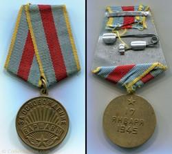 """Médaille """"Pour la libération de Varsovie..."""