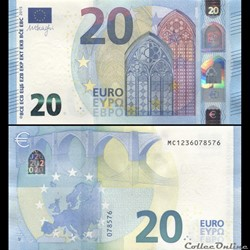 20 EUROS - SIGNATURE DRAGHI - PICK 22 M - PORTUGAL