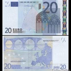 20 EUROS - SIGNATURE DRAGHI - PICK 16 G ...