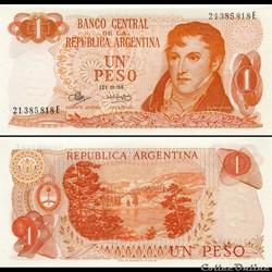 ARGENTINE - PICK 287 a 5 - 1 PESO - 1973