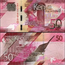 KENYA - PICK 52 a - 50 SHILLINGS - 2019