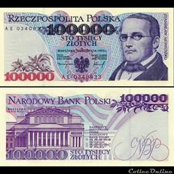 POLOGNE - PICK 160 A 2 - 100 000 ZLOTYCH - 1990