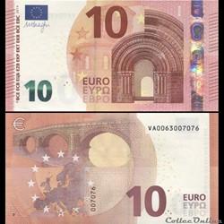 10 EUROS - SIGNATURE DRAGHI - PICK 21 V ...
