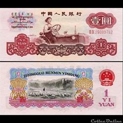 CHINE - PICK 874 a - 1 YUAN 1960