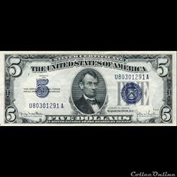 $5 SILVER CERTIFICATE SERIES 1934D