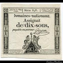 FRANCE - ASSIGNAT DE 10 SOUS -23/05/1793