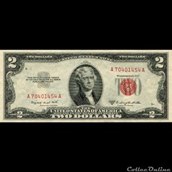 $2 - RED SEAL CERTIFICATE SERIES 1953B