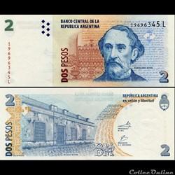 ARGENTINE - PICK 352 a 6 - 2 PESOS - 200...