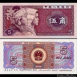 CHINE - PICK 883a3 - 5 JIAO 1980