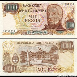 ARGENTINE - PICK 304 d 1 - 1000 PESOS - ...