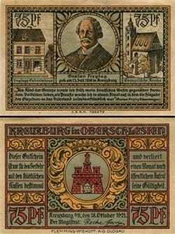 Kreuzburg in Oberschlesien - 75 Pfennig