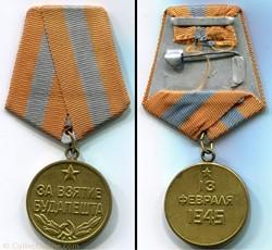 """Médaille """"Pour la Capture de Budapest"""" -..."""