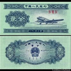 CHINE - PICK 861 b - 2 FEN 1953