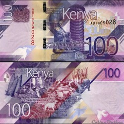 KENYA - PICK 53 a - 100 SHILLINGS - 2019