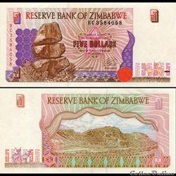 ZIMBABWE - PICK 005a - 5 Dollars - 1997