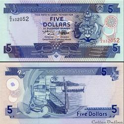 ILES SALOMON - PICK 19 a - 5 DOLLARS - 1...