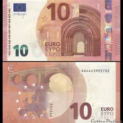 10 EUROS - SIGNATURE DRAGHI - PICK 21 X ...