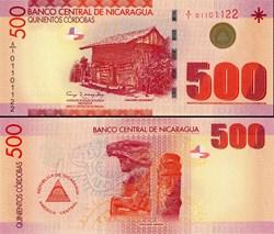NICARAGUA - PICK 206 a  - 500 CORDOBAS -...